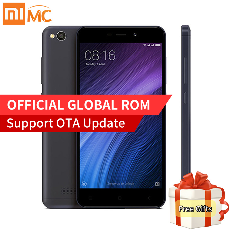 Global Vesion Xiaomi Redmi 4A 4 A 32GB ROM 2GB RAM Mobile Phone Snapdragon 425 Quad Core 5.0 Inch 13.0MP camera 3120mAh MIUI 8.1