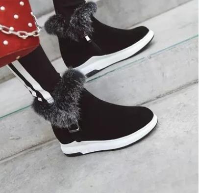 2019 New Plus Velvet Inner Height Women Short Boots Anti-slip .2019 New Plus Velvet Inner Height Women Short Boots Anti-slip .