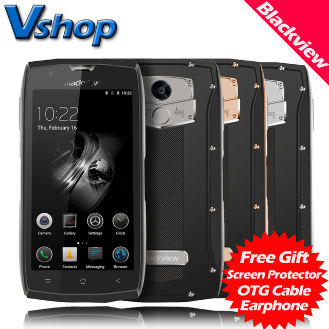 "Original Blackview BV7000 Pro 4G Mobile Phones 4GB RAM 64GB ROM Octa Core IP68 Waterproof 1080P 13.0MP Dual SIM 5.0"" Cell Phone"