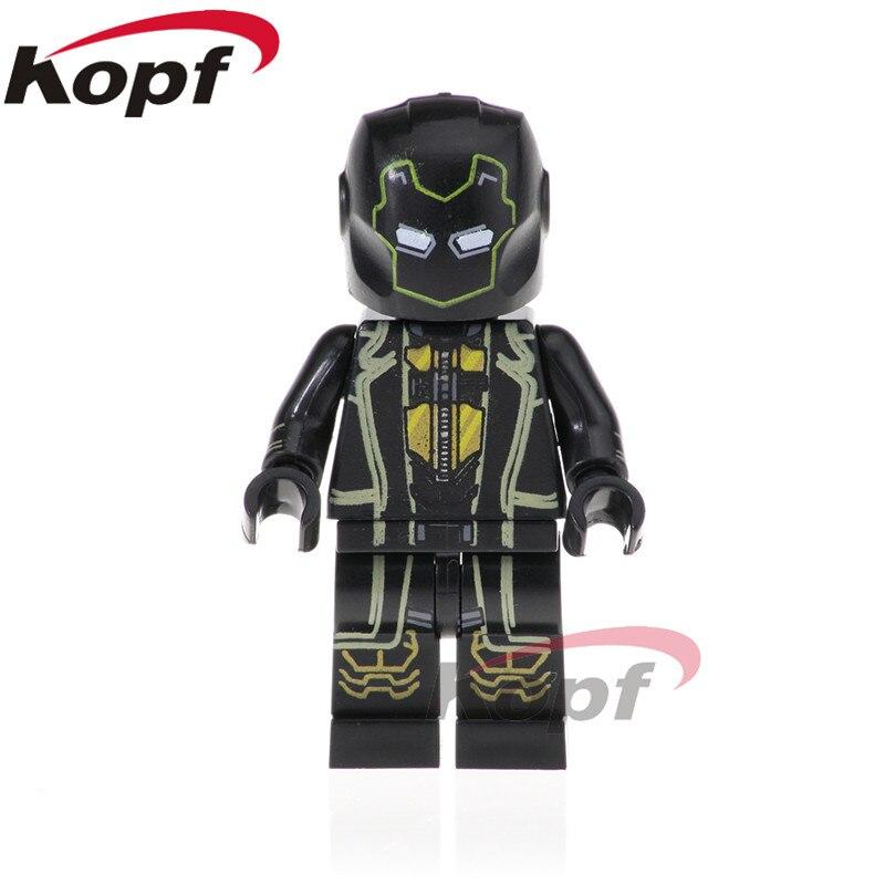 Single Sale Super Heroes Ronin Figures Black Panther Doctor Strange Pepper Potts Building Blocks Bricks Kids Toys Gift PG1568