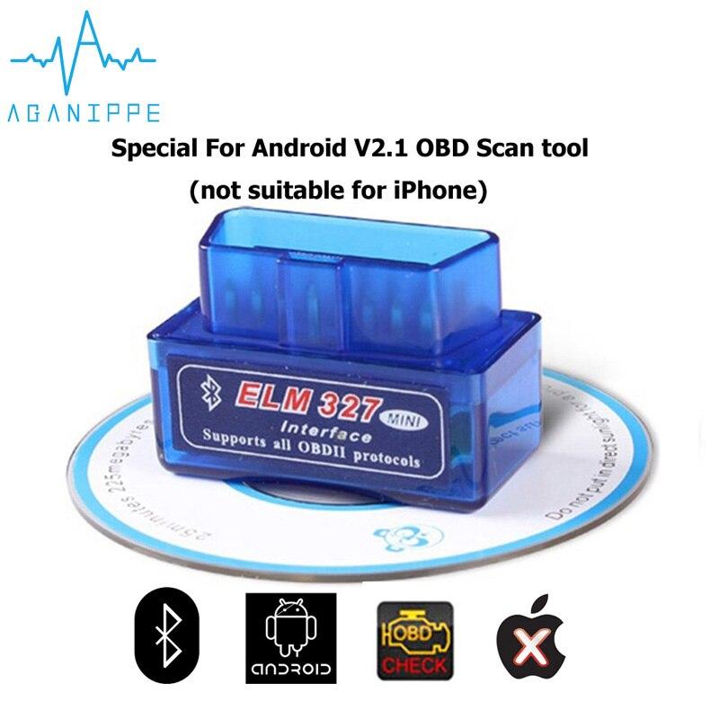 Диагностический сканер ELM327 V2.1 OBD 2, сканер для автомобилей, сканер Bluetooth ELM 327 OBD2, поддержка 7 протоколов OBDII