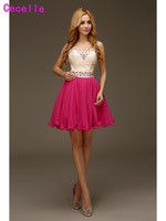 Real Cute Beaded Short Prom Cocktail Dresses 2017 For Juniors Sweetheart Chiffon Mini Informal Short Hocoming Prom Gowns