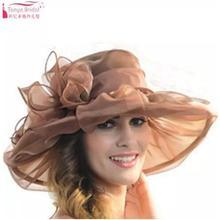Модные свадебные шляпы для невест Диаметром 31 см, вечерние шляпы для женщин, элегантные официальные аксессуары для волос, дешевые 9 цветов, Свадебные шляпы ZM001
