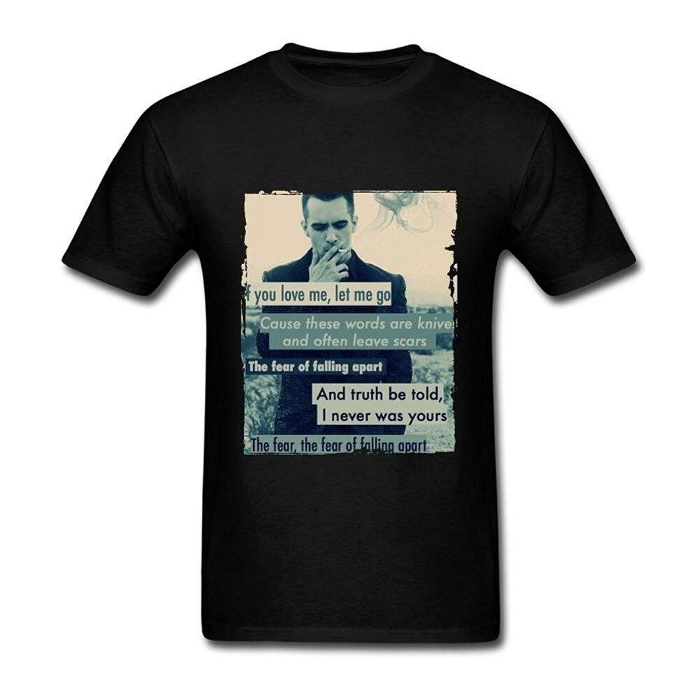 Panic At The Disco Quotes Mens T Shirts Loose Short Sleeve Summer Fashion Mens T-Shirt New Fashion For Men Short Sleeve