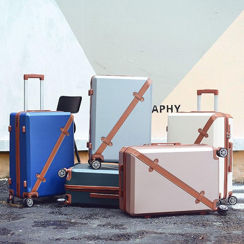 Оптовая продажа! 20 дюйм(ов) высокого качества ABS Hardside путешествия багажные сумки на универсальные диски, свет для девочек Корея Модные Зелен...