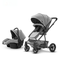 3 in 1 Newborn Baby Stroller Landscape Basket Sitting And Lying Winter Summer Dual purpose Portable Stroller