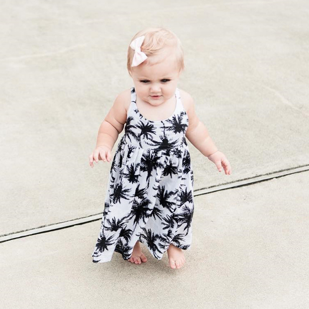Dresses Mother & Kids Practical 1-3t 2 Colors 2018 Summer Hot Sale Newly Fashion Baby Infant Girls Cute Dress Kids Children Newborn Print Sleeveless Dresses With The Best Service