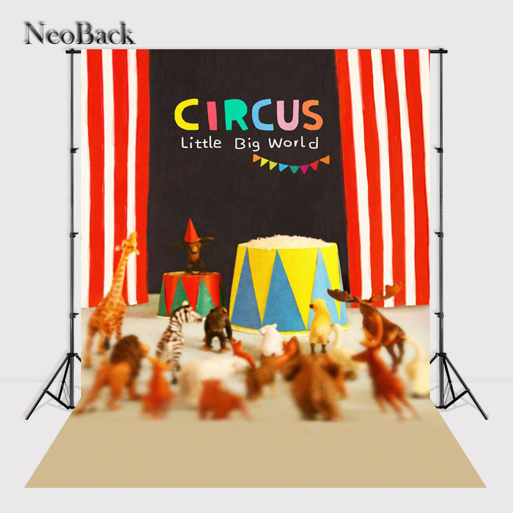 NeoBack Vinyl Cloth NewBorn Baby Photographic Backdrop Children Kids Circus Backdrops Printing Studio Photo backgrounds P2378 circus banner party backdrops vinyl cloth computer printed children photo background circus