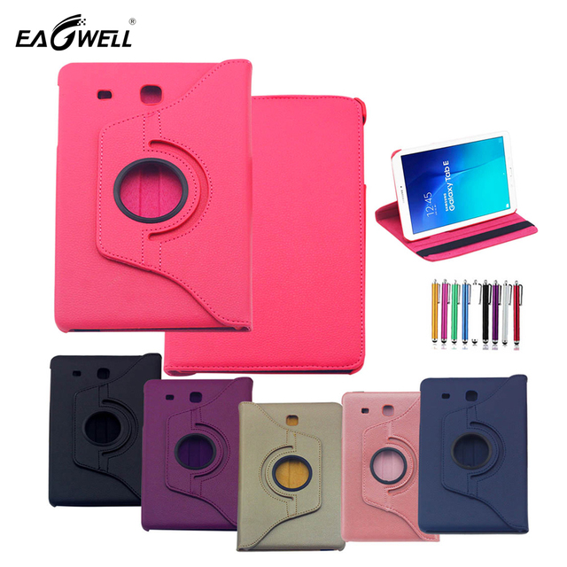 separation shoes 8d51c 8b3f6 US $8.25 19% OFF|Eagwell 360 degrees swivel Tablet Case For Samsung Galaxy  Tab E 9.6 SM T560NU T560NZ T567 PU Leather Stand Case Cover Shell Skin-in  ...