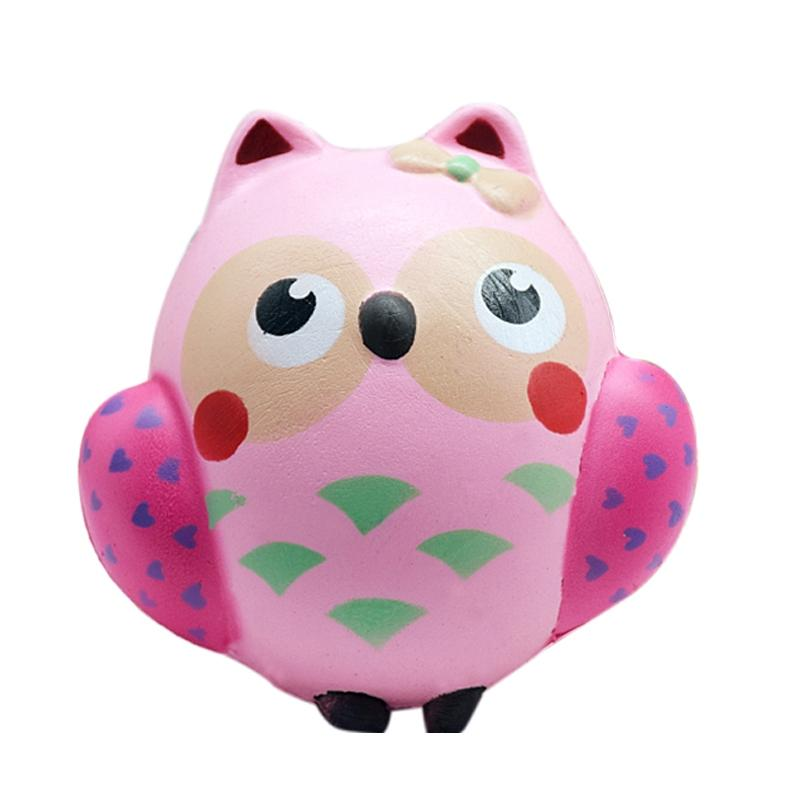 LeadingStar Cute Owl Squishy Toy PU Soft Slow Rising Squeeze Toys for Kids Adults Relieve Anxiety Fun Gift zk15