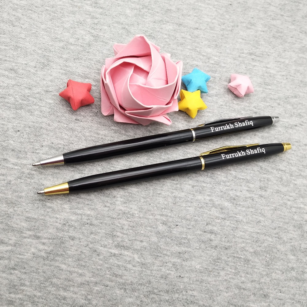 100pcs personalized Graduation gifts nice school pens custom engrave free with your logo text/telephone best gift for classmates