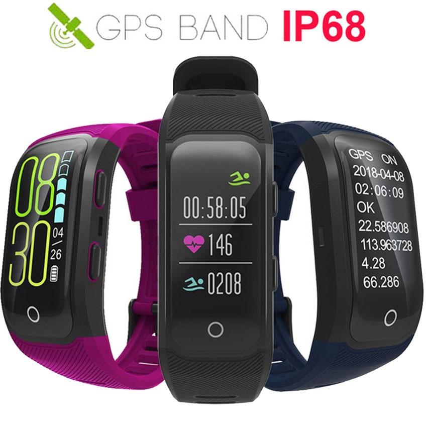 Mise à jour GPS Couleur Bande Intelligente Montre Natation/Course/Cycle Fitness Tracker En temps Réel de Vitesse Smartband Pour IOS/Xiaomi/Honor VS Miband 4/Viv