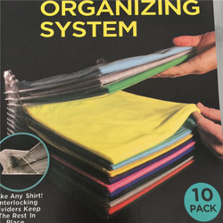 Portable 10 Layer Anti-wrinkle Neat Clothes Storage Organizer Holder Rack Ezstax T-shirt Organizing System Travel Closet Organiz