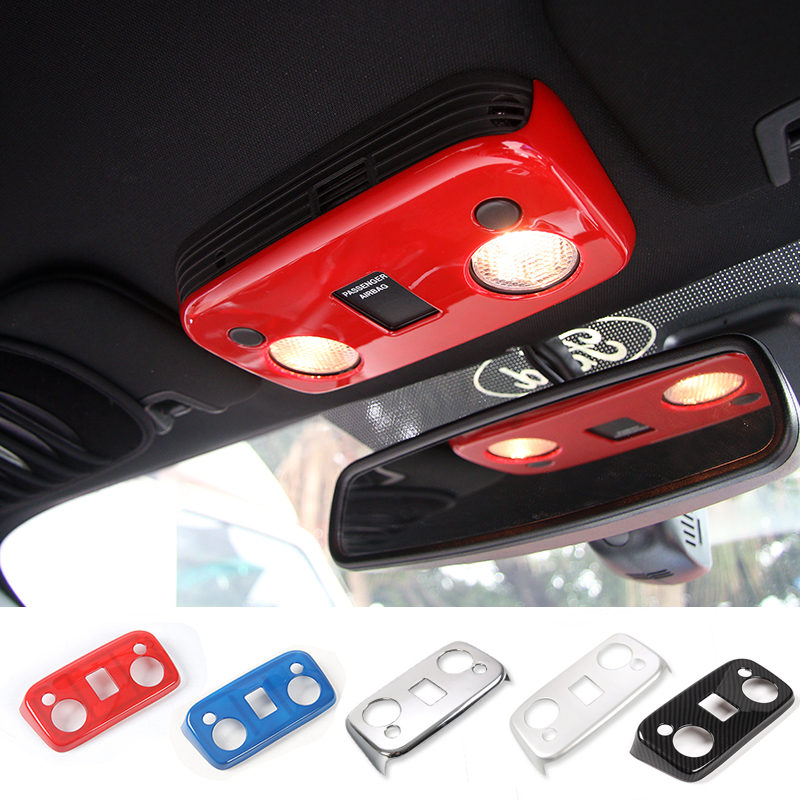 SHINEKA Car Styling ABS Toit lampe de Lecture Panneau Couvre Cabine Lumière Garnitures Pour Ford Mustang 2015 +