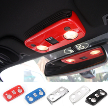 SHINEKA Car Styling ABS Roof Reading lamp Panel Covers  Cabin Light Trims For Ford Mustang 2015 +