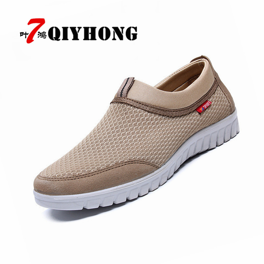Luxury Upscale New Summer Breathable Mesh Men Shoes Lightweight Men Flats Fashion Casual Male Shoes Brand Designer Men Loafers