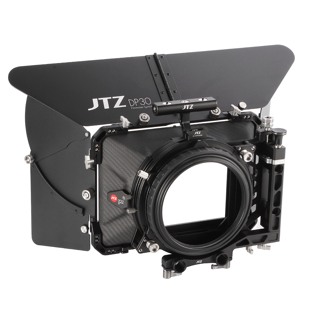 JTZ DP30 Cine Carbon Fiber 4x4 Matte Box 15mm 19mm For Sony ARRI RED CANON BMD