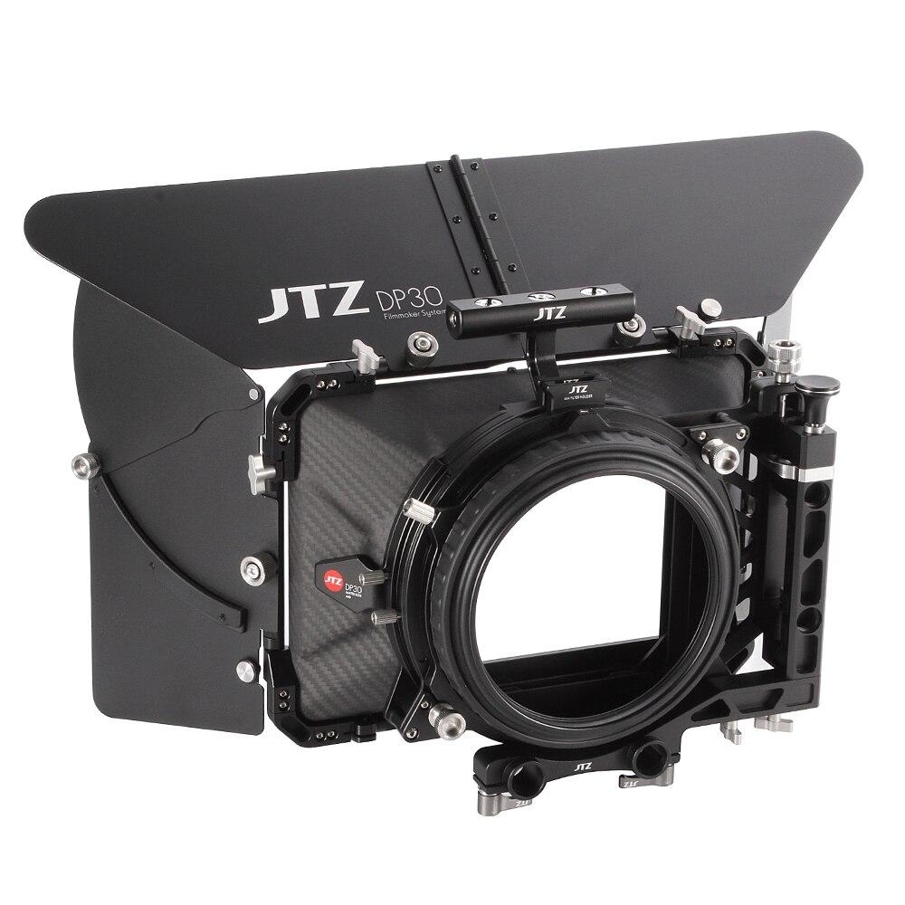 """bilder für Jtz dp30 cine kohlefaser 4x4 """"matte box 15mm/19mm für sony arri rot canon bmd"""