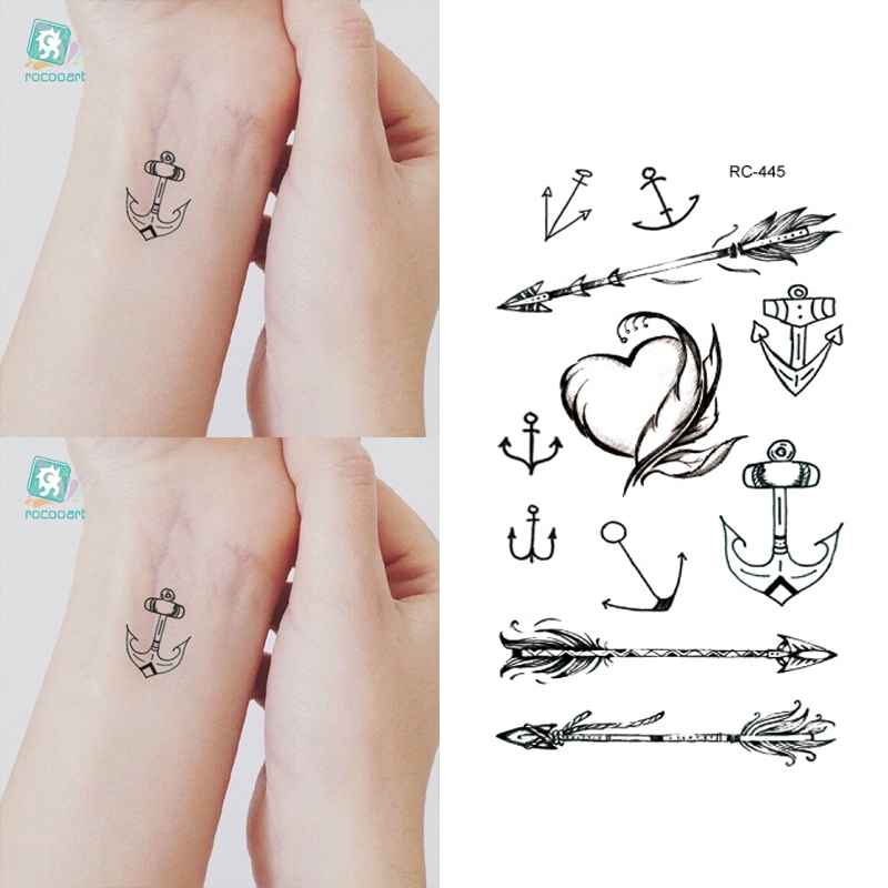 10pcs Waterproof Temporary Tattoos Sleeve Owl Fox Artificial Flowers Tattoo Many Designs Sex Men Beauty Body Art 3d Tatoo 15