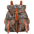 New 2017 Fashion Beautiful Printing PU Leather Backpack Girl Mochila Feminina Sac a Dos Bagpack Rugzak Drawstring Bag Back Pack