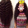 Необработанные 7А Класс волосы Королева продукты Перуанский Глубокая Волна Девы Волос 4 связки Королей Волосы Необработанные Virgin Перуанские Волосы