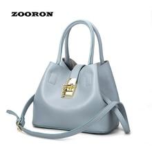 2016 new handbag fashion bucket bag buckle shoulder diagonal cross buns mother bag lady