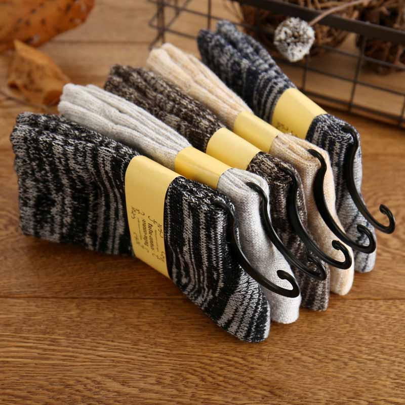 Warm Socks Men Wool Fashion Soft Winter Essential Comfortable High Quality Men Thicken 100% Real Wool Winter Warm Stockings