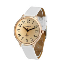 Women relojes mujer 2016 Fashion Women Geneva Faux Leather Analog Quartz Wrist Watch Women Bracelet Watch Ladies Clock Hotting