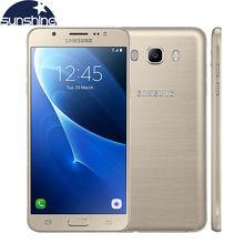 "Original samsung galaxy j7 j7108 lte octa core dual sim del teléfono móvil 3g ram 16g rom smartphone 5.5 ""13.0MP NFC teléfono celular"