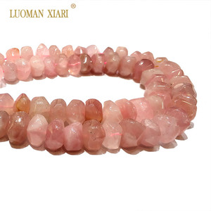 """Image 4 - High Quality 100% Natural Stone Beads Rose Pink Quartz Beads For Jewelry Making DIY Bracelet, Necklace Size 9 14 mm Strand 15"""""""