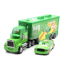 Disney Pixar Cars 2 Toys 2pcs Lightning McQueen Mack Truck The King 1:55 Diecast Metal Alloy Modle Figures Gifts For Kids