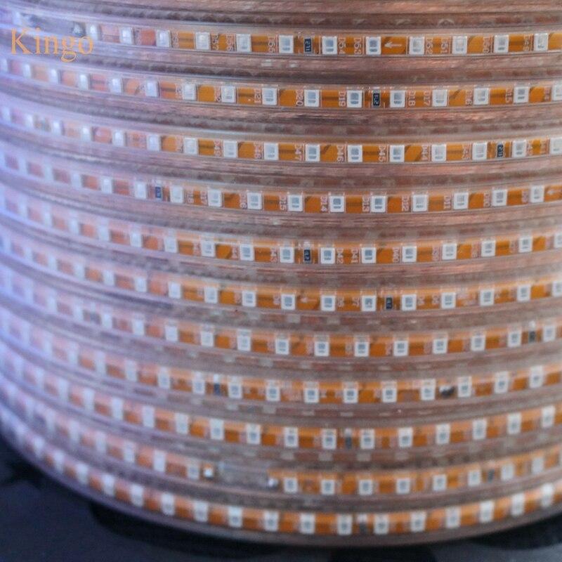 DHL 100 м/Roll 220 В Светодиодные ленты 2835 3528 SMD 120 светодиодный s/М лента дюралайта водонепроницаемый IP67 ярче, чем 3014 5630 оптовая продажа