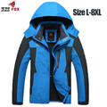 Big Size 5XL,6XL,7XL,8XL Male Jacket Autumn Winter parka men Brand Waterproof Windproof Jacket Coat Winter Jacket Men clothing