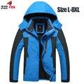 Grande tamanho 5xl, 6xl, 7xl, 8xl jaqueta masculina outono inverno parka casaco jaqueta à prova de vento dos homens da marca à prova d' água jaqueta de inverno homens clothing