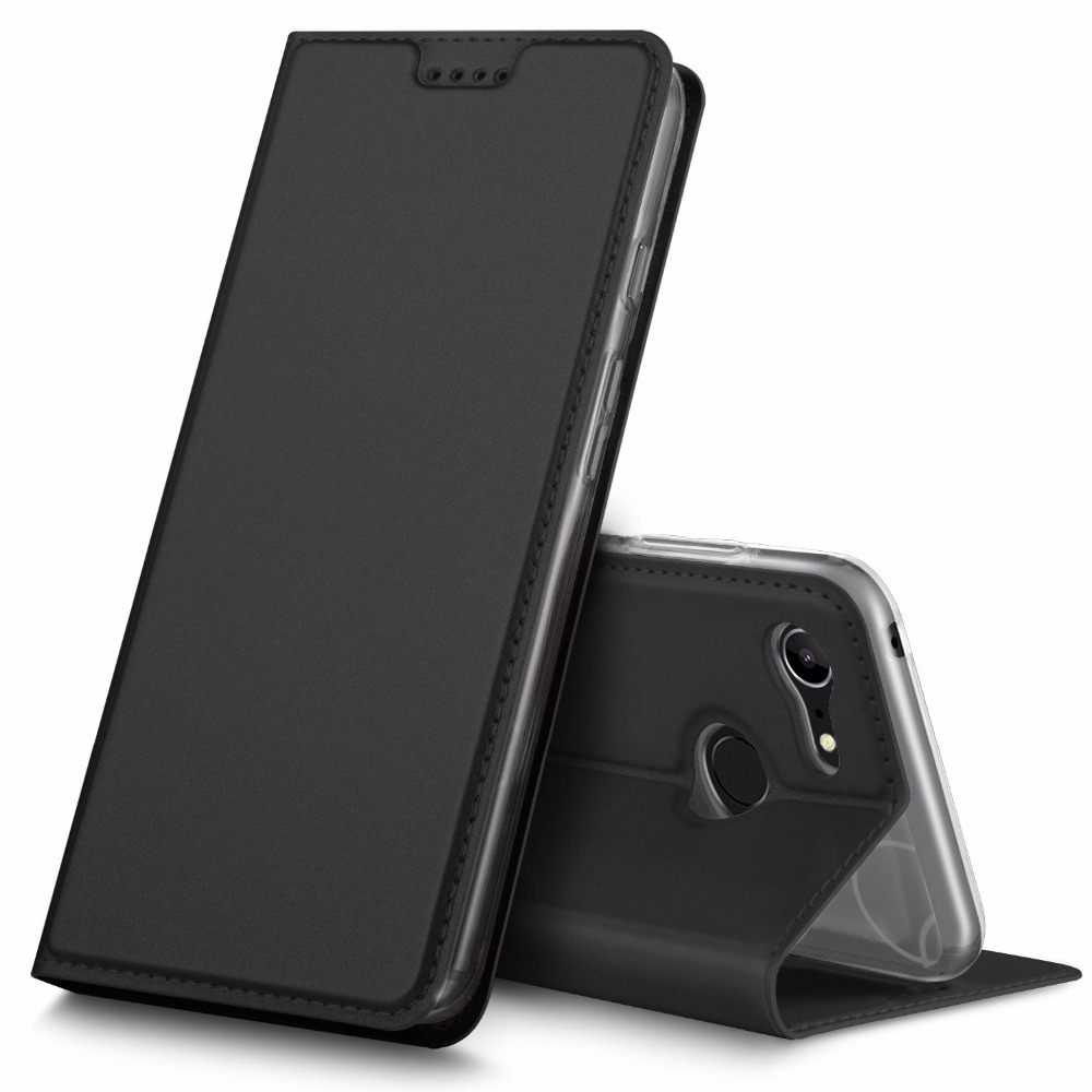IVSO Design Leather Case Card Slot Phone Shell For Google Pixel 3 Smartphone