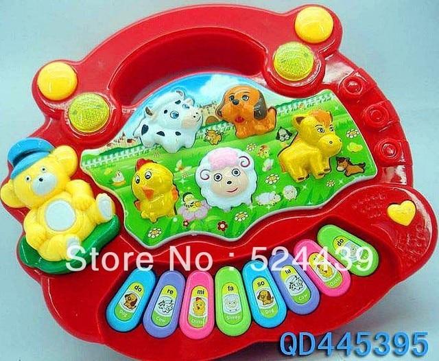 Baby Kid's Popular Animal Farm Piano Music Toy Electrical Keyboard Developmental Piano Toy Free Shipping
