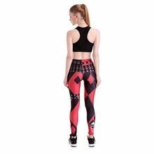 Harley Quinn Cosplay Printed Elastic Slim Fitness Costume Workout Leggings