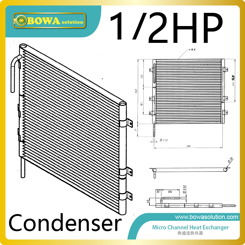 1/2HP compact condenser chieves of higher SEER (Seasonal Energy Efficiency Ratio) and EER (Energy Efficiency Ratio) ratings ratings