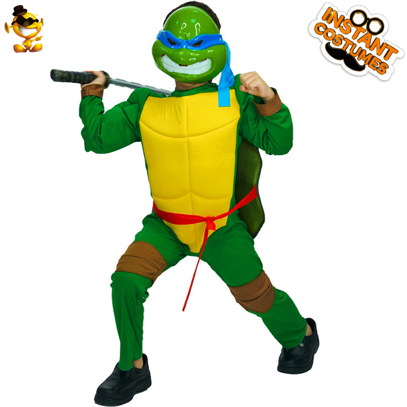 DSPLAY New Style Kid's Turtle Costume Hot Movie Boy's High Quality Cartoon Jumpsuit For Halloween Carnival Party Boys Suit