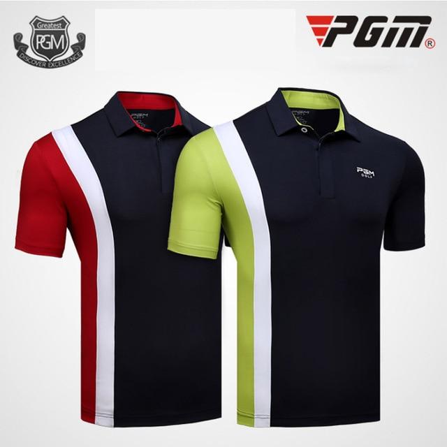 ab6df83c3c86d PGM 2018 Summer Golf Professional match t-shirt Men Elastic Quick dry  Breathable Turn collar T shirt Male Game Sport Jerseys