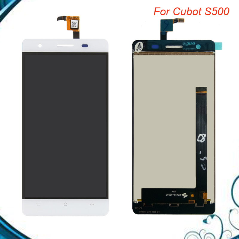 5.0inch 1280*720 Black/White 100% Tested Quality Touch For Cubot S500 LCD Display +Touch Screen Digitizer Assembly Replacement