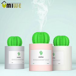 USB Cactus Air Humidifier Ultrasonic Humidifiers with Night Light 280ML Mist Maker Aromatherapy Aroma Diffuser Mist Maker Home