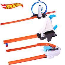 Хот Вилс 3-в-1 трек Набор Модель автомобиля детское платье в сборку, Пластик металла для детей машин для детей обучающие игрушки для мальчиков подарок