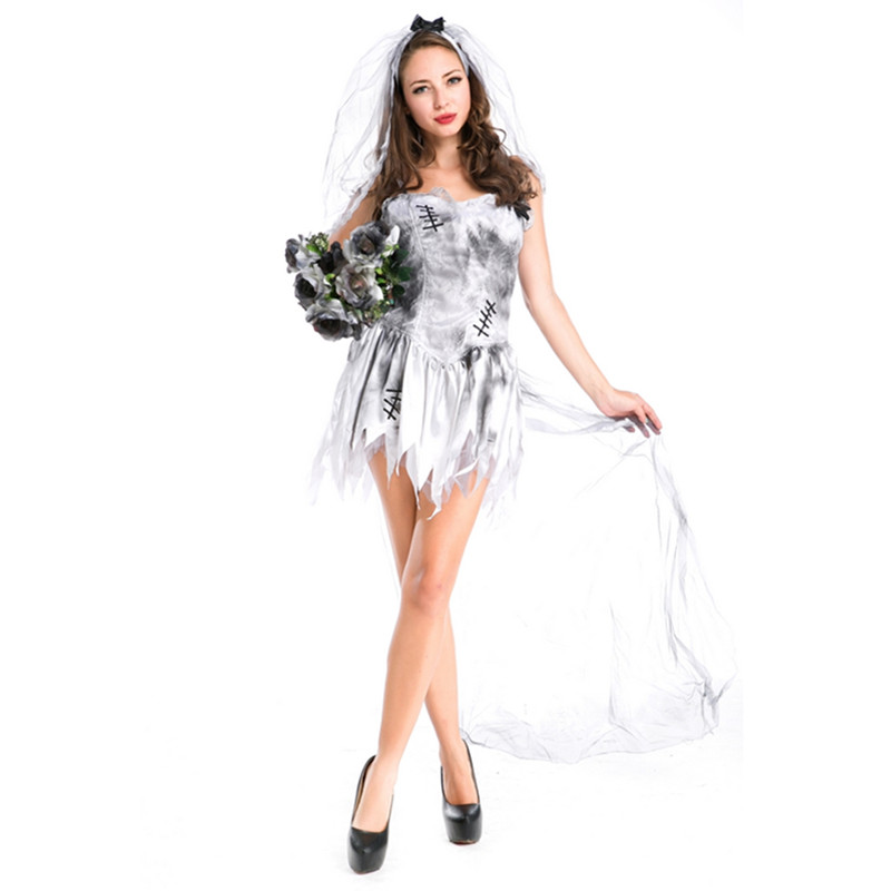 New Arrival Corpse Bride Costume Sexy Roleplay Gothic