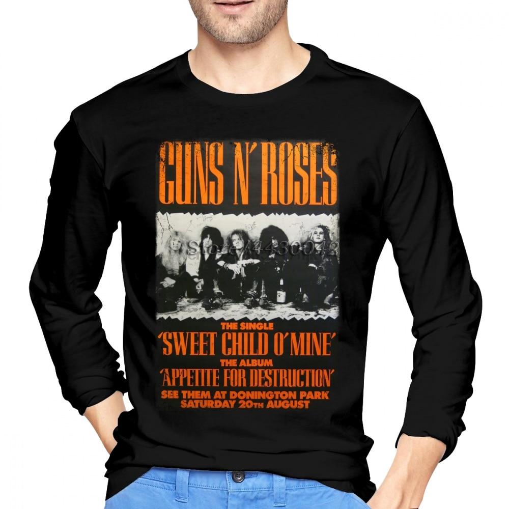 2XL Black T-Shirt XL L M Guns N Roses Roses /& Pistols S