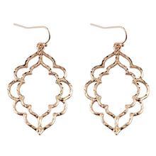 Bohemian Gold Filigree Hollow Chandelier Drop Earrings 2019 Popular Jewelry Boho Fashion Women's Morocco Statement Earrings faux crystal filigree chandelier earrings