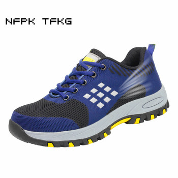 new arrival mens casual breathable mesh steel toe cap working safety summer shoes light comfort deodorant tooling boots protect