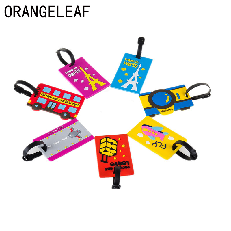 Travel Accessories Creative PVC Luggage Tag Special Cartoon Suitcase ID Address Holder Baggage Tags Portable Label
