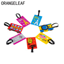 Travel Accessories Creative PVC Luggage Tag Special Cartoon Suitcase ID Address Holder Baggage Tags Portable Label round aluminium alloy luggage tages travel accessories baggage name tags suitcase address lable holder id strap gift