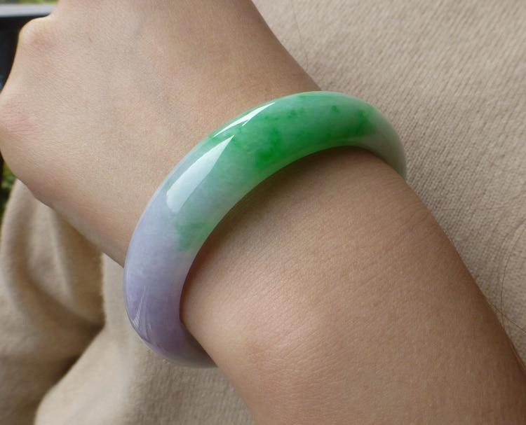 Natural Burmese stone violet, green, purple bracelets /Appraisal certificate gift box